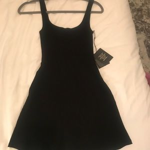 NWT Reformation Black Fit and Flare Slater Dress